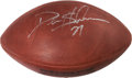 Football Collectibles:Balls, Deion Sanders Signed NFL Football....