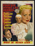"""Movie Posters:Drama, Not as a Stranger (United Artists, 1955). Belgian (14"""" X 19""""). Drama...."""