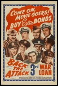 """Movie Posters:War, Back the Attack (War Activities Committee, 1943). One Sheet (27"""" X41""""). War...."""