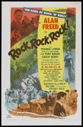 "Movie Posters:Rock and Roll, Rock, Rock, Rock (DCA, 1956). One Sheet (27"" X 41""). Rock andRoll...."