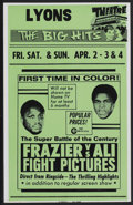 "Movie Posters:Sports, Frazier vs Ali Fight (Cinerama Releasing, 1971). Local Window Card (14"" X 22""). Sports...."