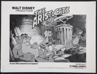 """The Aristocats (Buena Vista, R-1980). One Sheet (27"""" X 41"""") and Pressbook (Multiple Pages). Animated.... (Tota..."""
