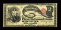 National Bank Notes:New York, Aurora, NY - $2 Original Fr. 387 The First NB Ch. # 412. ...