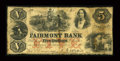 Obsoletes By State:Virginia, Fairmont, VA- Fairmont Bank $5 May 15, 1860 G10a Jones BF05-17. ...