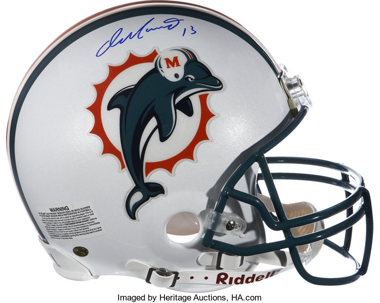 new products 4f819 6d91c Dan Marino Signed Dolphins Full Size Helmet.... Football ...