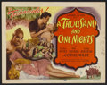 "Movie Posters:Adventure, A Thousand and One Nights (Columbia, 1945). Title Lobby Card andLobby Cards (3) (11"" X 14""). Adventure.... (Total: 4 Items)"