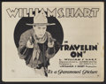 "Movie Posters:Western, Travelin' On (Paramount, 1922). Title Lobby Card (11"" X 14""). Western...."