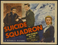 "Movie Posters:War, Suicide Squadron (Republic, 1941). Title Lobby Card and Lobby Cards(2) (11"" X 14""). War.... (Total: 3 Items)"