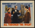 """Movie Posters:Action, All Through the Night (Warner Brothers, 1942). Lobby Card (11"""" X14""""). Action...."""