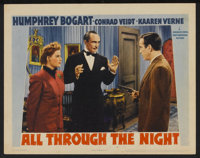 "All Through the Night (Warner Brothers, 1942). Lobby Card (11"" X 14""). Action"