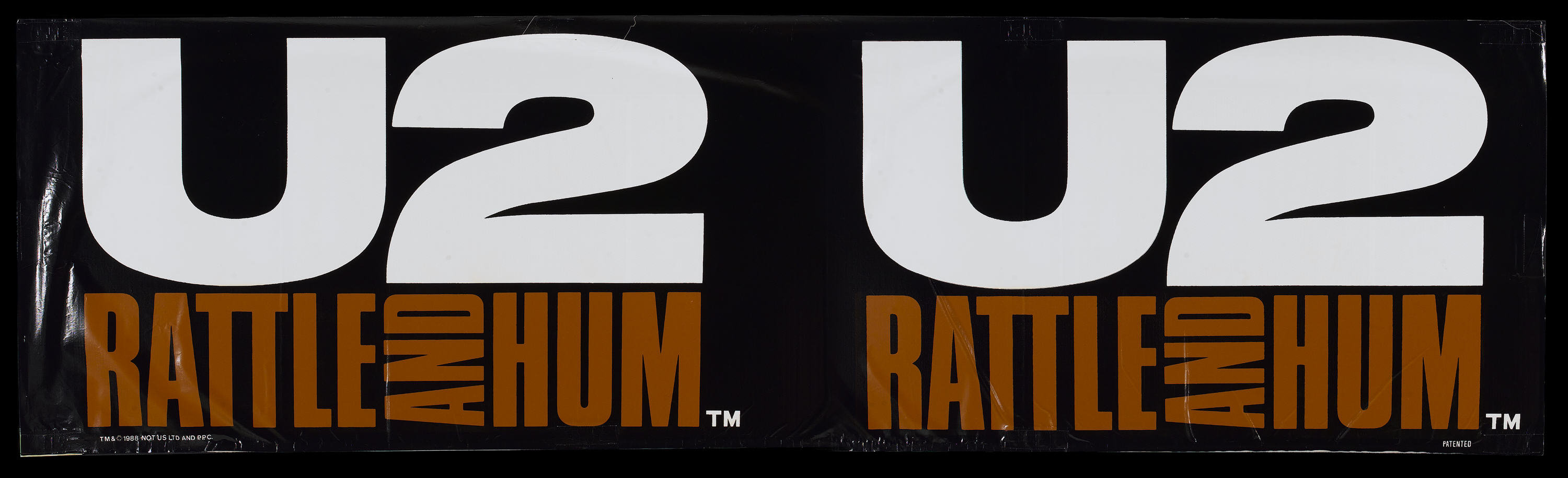 U2: Rattle and Hum (Paramount, 1988)  Vinyl Banner (34