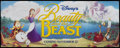 "Movie Posters:Animated, Beauty and the Beast (Buena Vista, 1991). Vinyl Banner (46"" X 119"") Advance. Animated...."