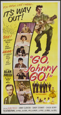 "Movie Posters:Rock and Roll, Go, Johnny, Go! (Hal Roach, 1959). Three Sheet (41"" X 81""). Rockand Roll...."