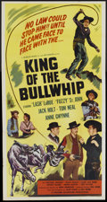 "Movie Posters:Western, King of the Bullwhip (Western Adventures Pictures, 1950). Three Sheet (41"" X 81""). Western...."