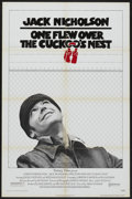 "Movie Posters:Drama, One Flew Over the Cuckoo's Nest (United Artists, 1975). One Sheet (27"" X 41""). Drama...."