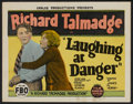 "Movie Posters:Adventure, Laughing at Danger (FBO, 1924). Title Lobby Card (11"" X 14"").Adventure...."