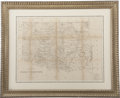 Antiques:Posters & Prints, [Oklahoma] Large Indian Territory Map, 1876....