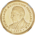 Commemorative Gold: , 1905 G$1 Lewis and Clark MS62 NGC. NGC Census: (201/767). PCGSPopulation (259/1484). Mintage: 10,000. Numismedia Wsl. Pric...