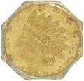 California Fractional Gold: , 1881 25C Indian Octagonal 25 Cents, BG-788, R.7, MS62 PCGS. PCGSPopulation (3/6). (#10615)...