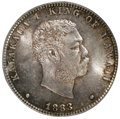 Coins of Hawaii: , 1883 25C Hawaii Quarter MS64 PCGS. PCGS Population (299/248). NGC Census: (174/196). Mintage: 500,000. (#10987)...