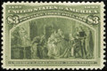 Stamps, #243a, 1893, $3 Olive Green, VF-XF 85 PSE. (No Gum).... (Total: 1 Slab)