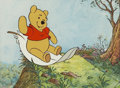 Animation Art:Production Drawing, Winnie the Pooh Discovers the Seasons Animation ProductionCel Original Art with Hand-Painted Background Original Art ...