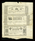 Obsoletes By State:Louisiana, New Orleans, LA- Second Municipality 25¢-50¢-12 1/2¢ May, 1837 Uncut Partial Sheet. ...