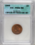 Proof Indian Cents: , 1906 1C PR62 Red and Brown ICG. NGC Census: (1/107). PCGS Population (5/158). Mintage: 1,725. Numismedia Wsl. Price for NGC...