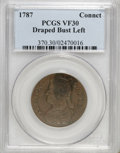 1787 COPPER Connecticut Copper, Draped Bust Left VF30 PCGS. PCGS Population (48/153). NGC Census: (0/0). (#370)...(PCGS#...