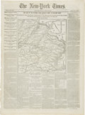 "Miscellaneous:Ephemera, [Civil War Newspaper] The New-York Times. Eight pages, March10, 1862, 15.5"" x 21"". This well-preserved original..."