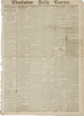 """Miscellaneous:Ephemera, [Civil War Newspaper] The Charleston Daily Courier. Twopages, 16.5"""" x 23"""", May 10, 1864, with lower banner reading,..."""