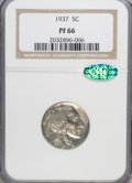 Proof Buffalo Nickels, 1937 5C PR66 NGC. CAC....