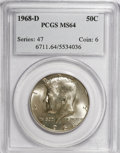 Kennedy Half Dollars: , 1968-D 50C MS64 PCGS. PCGS Population (203/907). NGC Census:(101/291). Mintage: 246,951,936. Numismedia Wsl. Price for NGC...