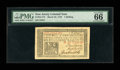 Colonial Notes:New Jersey, New Jersey March 25, 1776 1s PMG Gem Uncirculated 66 EPQ....