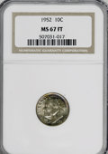 Proof Roosevelt Dimes, 1952 10C MS67 Full Torch NGC. Mintage: 14,500. (#85100)...