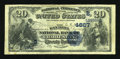 National Bank Notes:West Virginia, Charleston, WV - $20 1882 Date Back Fr. 550 The Kanawha NB Ch. # (S)4667. ...