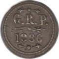 Coins of Hawaii, 1886 12.5C Hawaii Grove Ranch Token AU50 PCGS....