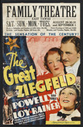 """Movie Posters:Musical, The Great Ziegfeld (MGM, 1936). Window Card (14"""" X 22""""). Musical. Starring William Powell, Myrna Loy, Luise Rainer, Fanny Br..."""