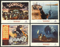 """Movie Posters:Science Fiction, Gorgo (MGM, 1961). Title Lobby Card (11"""" X 14"""") and Lobby Cards (3)(11"""" X 14""""). Science Fiction. Starring Bill Travers, Wi... (Total:4)"""