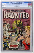 Golden Age (1938-1955):Horror, This Magazine Is Haunted #9 (Fawcett, 1953) CGC FN+ 6.5 Off-whitepages....