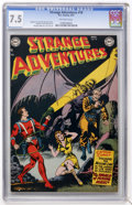 Golden Age (1938-1955):Science Fiction, Strange Adventures #18 (DC, 1952) CGC VF- 7.5 Off-white pages....