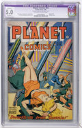 Golden Age (1938-1955):Science Fiction, Planet Comics #53 (Fiction House, 1948) CGC Apparent VG/FN 5.0Slight (P) Off-white to white pages....