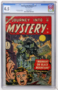 Golden Age (1938-1955):Horror, Journey Into Mystery #17 (Marvel, 1954) CGC VG+ 4.5 Off-whitepages....