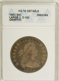 Early Half Dollars: , 1803 50C Large 3--Graffiti--ANACS. VG10 Details. O-103 NGC Census:(13/414). PCGS Population (11/265). Mintage: 188,234. Nu...