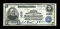 National Bank Notes:Maine, Biddeford, ME - $5 1902 Plain Back Fr. 598 The First NB Ch. # 1089. ...
