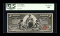 Large Size:Silver Certificates, Fr. 247 $2 1896 Silver Certificate PCGS Very Choice New 64....