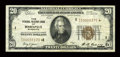 Small Size:Federal Reserve Bank Notes, Fr. 1870-I* $20 1929 Federal Reserve Bank Note. Very Fine.. ...