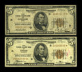 Small Size:Federal Reserve Bank Notes, Fr. 1850-D* $5 1929 Federal Reserve Bank Note. Very Good.. Fr. 1850-G* $5 1929 Federal Reserve Bank Note. Fine.. ... (Total: 2 notes)