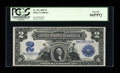 Large Size:Silver Certificates, Fr. 251 $2 1899 Silver Certificate PCGS Gem New 66PPQ....