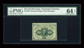 Fr. 1240 10c First Issue PMG Choice Uncirculated 64 EPQ